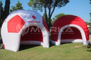 şişme çadır ve futbol topu stand | vodafone şişme stand