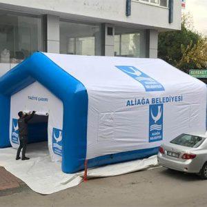 aliağa belediyesi şişme taziye çadırı