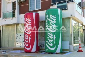 reklam balonu cocacola şişme ürün maketi