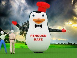 gel gel balon maskot penguen