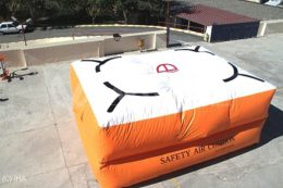 şişme atlama yatağı ve atlama yastığı