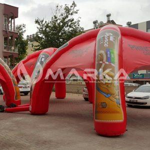 Nescafe şişme çadırı