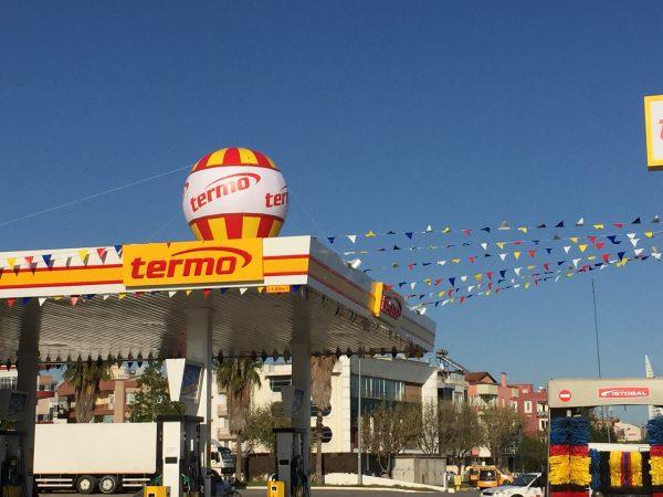 Işıklı Reklam Balonları Termo Petrol