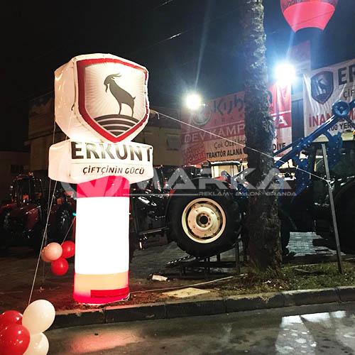 ERKUNT Traktör Reklam Balonu