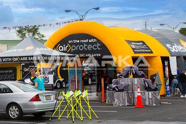 8 ayaklı şişme çadır modeli