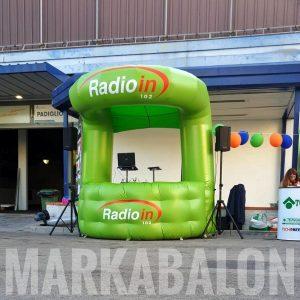 şişme stand çadır radio in
