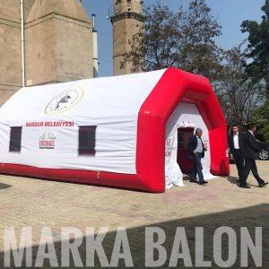 burdur belediyesi şişme taziye çadırı