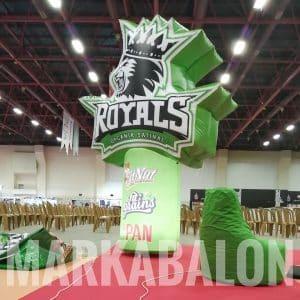 ışıklı reklam balonu royals