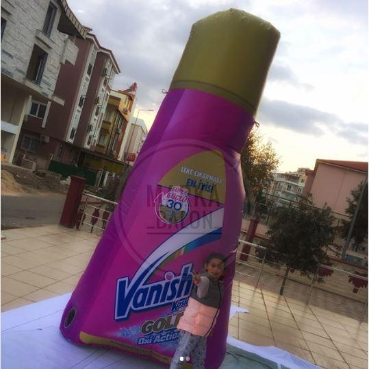 şişme ürün maketi vanish